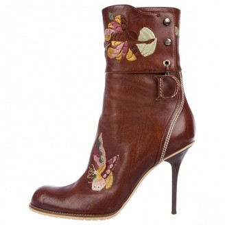 Christian Dior Brown Leather Ankle boots