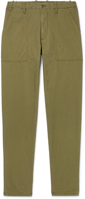 Incotex Slim-Fit Garment-Dyed Cotton Drawstring Trousers - Men