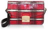 Furla Metropolis Stripe Leather Shoulder Bag