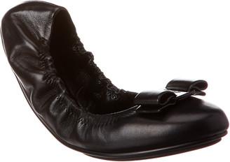 Salvatore Ferragamo Vara Bow Leather Ballet Flat