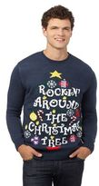 Red Herring Blue 'rocking Around The Christmas Tree' Light Up Jumper