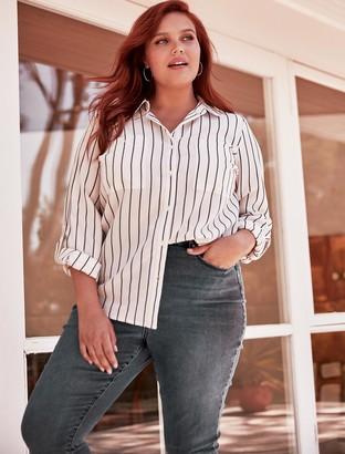 Forever New Jenna Curve Long Sleeve Striped Shirt - Stripe - 16