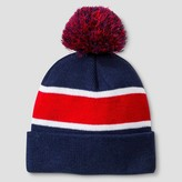 Cat & Jack Boys' Striped Beanie Cat & Jack - Navy/Red One Size