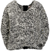 Vintage Havana Speckle Zip Back Sweater (Big Girls)