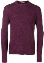 Etro tonal paisley print jumper
