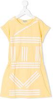 Kenzo print T-shirt dress - kids - Cotton/Spandex/Elastane - 4 yrs