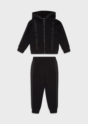 Emporio Armani Hooded Tracksuit With Logo Tape