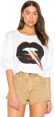 Lauren Moshi Babbs Lipstick Mouth Sweatshirt