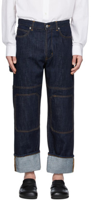 J.W.Anderson Indigo Patched Jeans