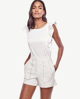 Ann Taylor Petite Pinstripe High Waist Shorts