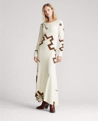 Ralph Lauren Cotton Long-Sleeve Dress