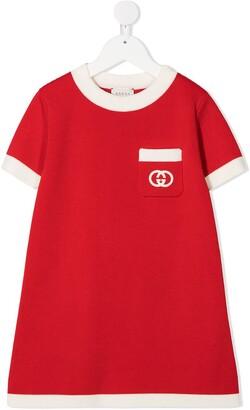 Gucci Kids GG motif knitted dress