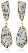 Kendra Scott Traci Rose Gold Gray Granite Earrings