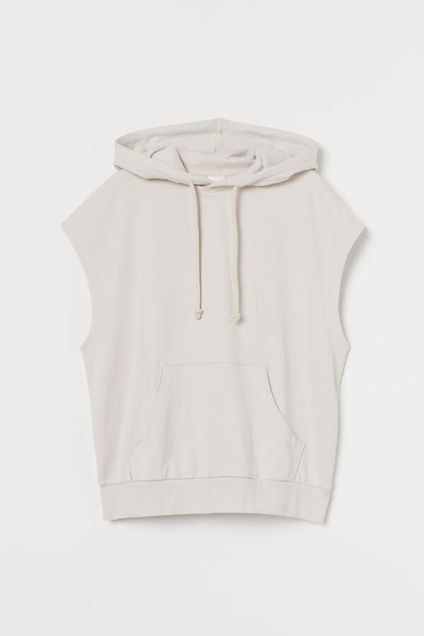 H&M Sleeveless Hoodie - Beige