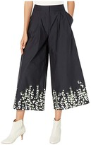 ADAM by Adam Lippes Pleat Front Culottes (Lily Black) Women's Casual Pants