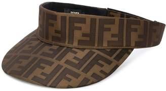 Fendi FF pattern visor hat