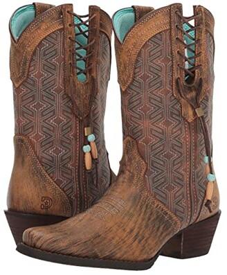 Durango 10.5 Crush Triad Native Blanket Stitch (Driftwood) Women's Boots