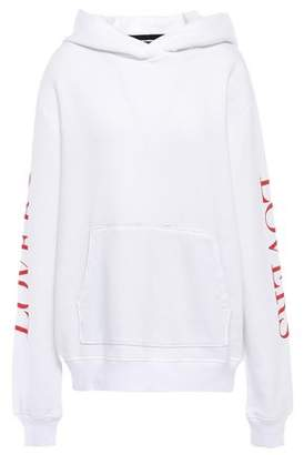 Amiri Oversized Printed Cotton-fleece Hoodie