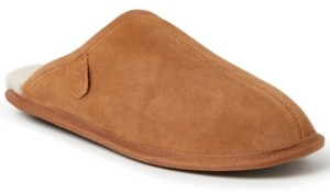 Dearfoams Fireside by Dearfoam Men's Warwick Genuine Shearling Scuff Slippers Men's Shoes