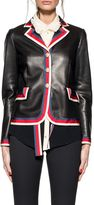 Gucci Black Sylvie Web Leather Jacket