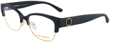 Tory Burch Matte Dark Navy & Gold Eyeglasses