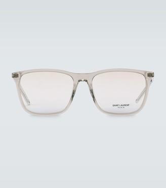 Saint Laurent Square-frame acetate glasses