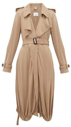 Burberry Drawstring-hem Jersey Trench Coat - Womens - Beige