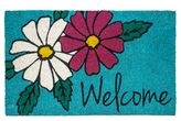 Floral Welcome Non-Slip Indoor/Outdoor Doormat