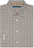 Perry Ellis Big and Tall Mini Floral Oxford Shirt