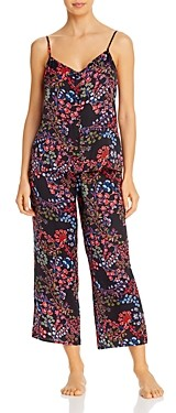 Josie Floral Print Satin Cropped Pajama Set