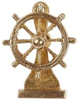 Annina Vogel Gold Ship Wheel Charm