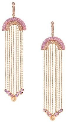 Robinson Pelham Juke 18K Rose Gold & Multi-Stone Rainbow Drop Earrings