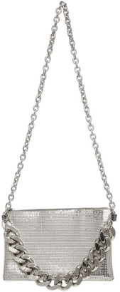 Kara Silver Chain Mail Crossbody Bag