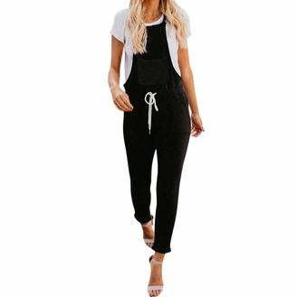 Homebaby   Women Jumpsuits Plus Size Ladies Solid Dungarees Slim Sexy Long Playsuits Jumpsuit for Women Going Out Party Rompers Trousers Women Loose Sleeveless Casual Pants Outfit