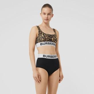 Burberry ogo and eopard Print Bikini