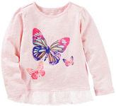 Osh Kosh Ruffle-Hem Butterfly Tee