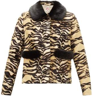 Shrimps Duke Tiger-print Faux-fur Jacket - Womens - Brown Multi