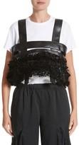 Noir Kei Ninomiya Women's Ruffled Faux Leather Harness