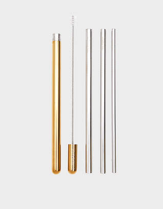 Lastra Gold Portable Straw Set