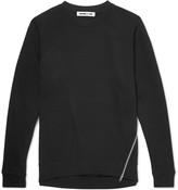 Mcq Alexander Mcqueen - Zip-detailed Loopback Cotton-jersey Sweatshirt