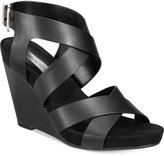 INC International Concepts Women's Landor Strappy Wedge Sandals, Created for Macy's