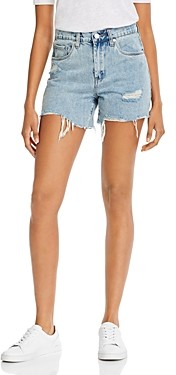 Blank NYC Cotton Ripped Denim Shorts in Acid Trip