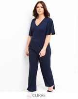 Girls On Film Curve Flare Sleeve Jumpsuit