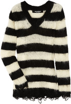 Junya Watanabe Striped mohair-blend sweater