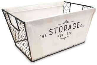 Soho Market Chicken Wire and Canvas Storage Bin