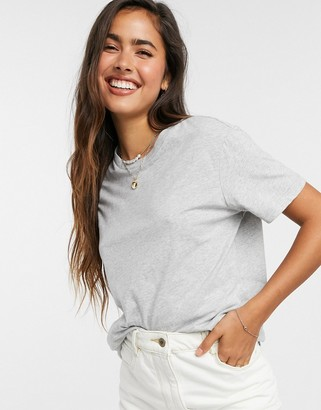 ASOS DESIGN ultimate organic cotton t-shirt with crew neck in gray marl