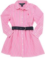 Ralph Lauren Striped Cotton Poplin Shirt Dress