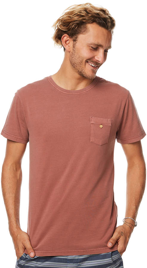 rhythm Everyday Wash Mens T Shirt Red
