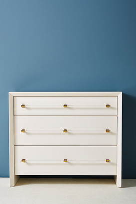 Anthropologie Merriton Three-Drawer Dresser By in White Size ALL