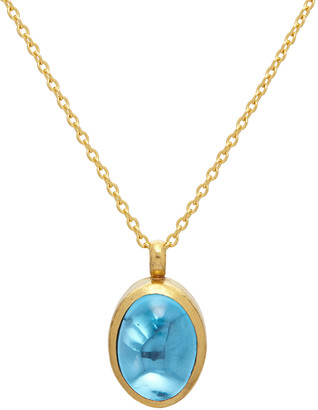 Gurhan Rune Blue Topaz Necklace